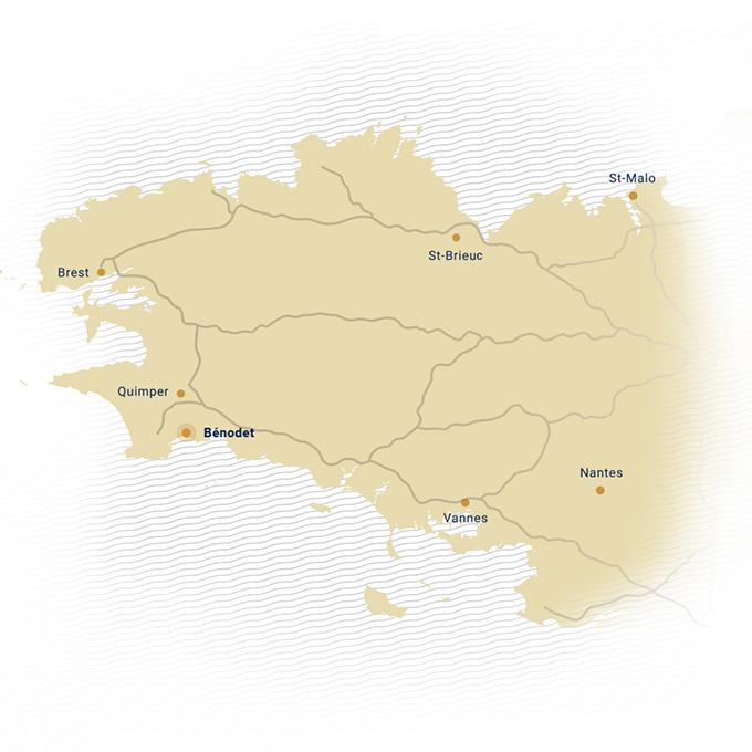 Carte de la Bretagne