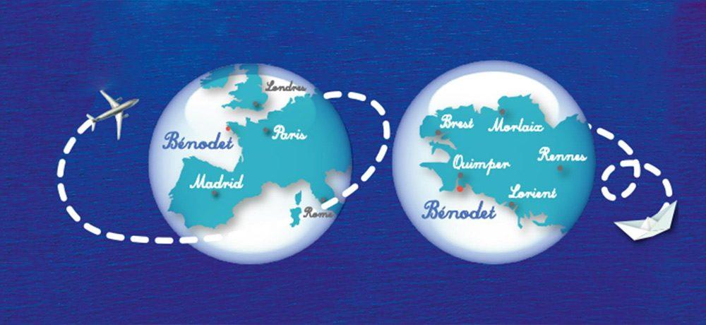 Deux globes de situation de Bénodet