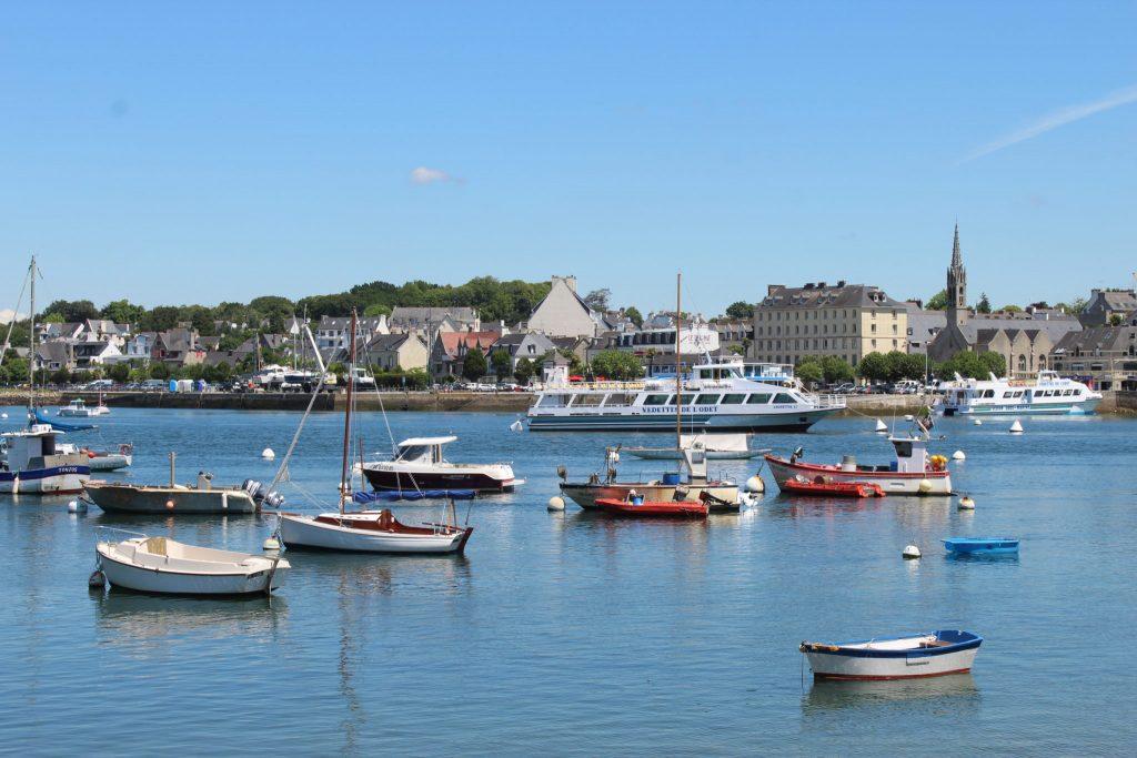 La vue du port de Bénodet depuis Sainte-Marine