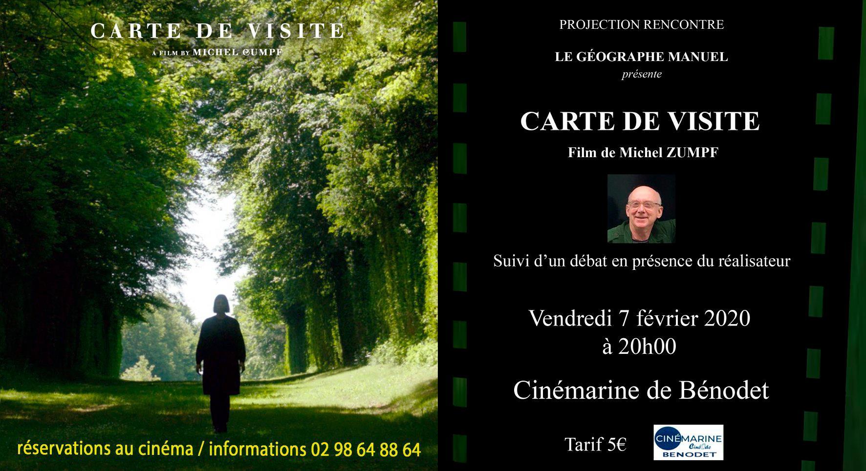 Projection rencontre au Cinémarine – Carte de visite de Michel Zumpf